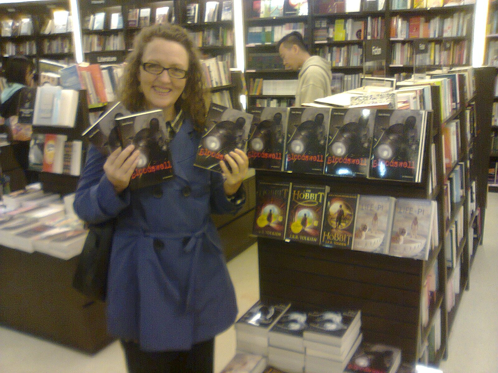 Myself in the CP bookstore on Nathan Road